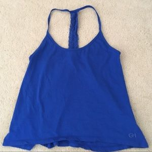 GILLY HICKS Lace Strip Racerback Tank Top